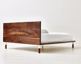 Miss Rollings Platform Bed - Minimal Modern Solid Walnut Bed