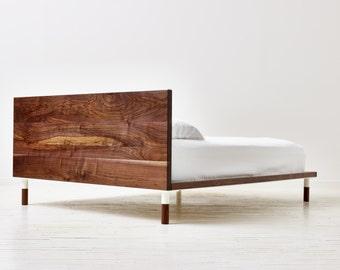 Miss Rollings Platform Bed - Minimal Modern Solid Walnut Bed