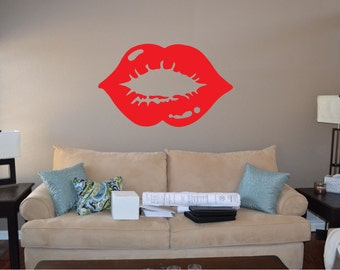 Lipstick Kiss Wall Decal - sp4 (62)