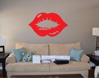 Lipstick Kiss Wall Decal - sp4 (62)
