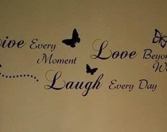 Live Love Laugh Wall Quote