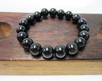 Black Obsidian Bracelet Black Obsidian Chakra Bracelet Black Obsidian Healing Bracelet Yoga Meditation Black Obsidian Protection Sagittarius