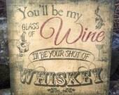 Glass of Wine Shot of Whi...