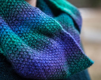Turquoise Knit Infinity Scarf