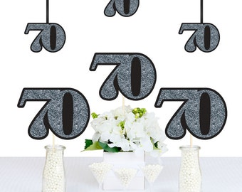 Adult 70th Birthday - Silver - DIY Birthday Decorations Party Essentials - 20 Count