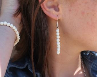 Cream earrings
