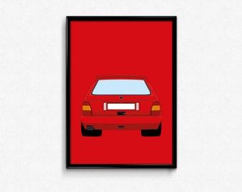 Lancia Delta Integrale A3 Print