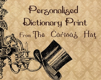 Personalised Dictionary Print