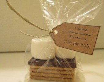 S'More Wedding Favor BAGS!  Classy, Inexpensive, Unique Favor!  Clear, Food Safe, Perfect Size:  8x4x2!