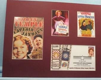 Shirley Temple - Captain January, The Little Princess  and Dimples & First Day Cover of her own stamp as a Leher ogend of Hollywood