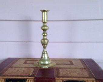 Victorian Brass Candle Stick  Original Push Up  Desk Light   Beehive
