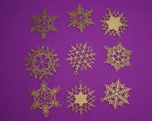 "32 + Stars & Snowflakes -- 3.5"" Christmas Ornament Designs,  Digital Patterns for a Laser to Cut from wood, MDF, or Acrylic."