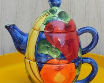 Vibrant Ceramic Teapot by Denise Ford for Ganz!