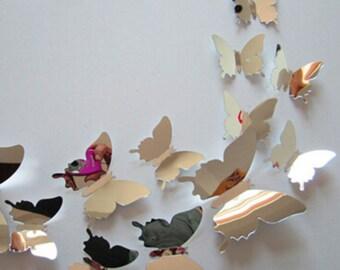 Mirror Wall Art Butterflies