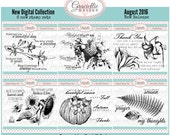 August Release Bundle - 6 Digital Stamp Sets