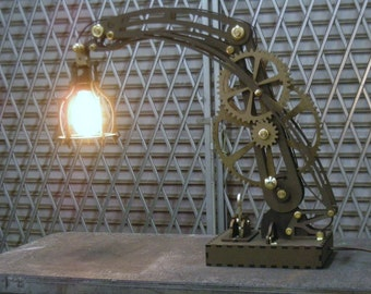 steam punk wood lamp dxf files for laser cutting