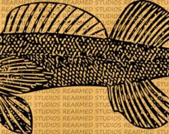 Vintage Fish V.1 Vector Image - INSTANT DOWNLOAD