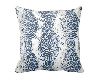 Navy Blue Pillow Cover Navy Throw Pillow Cover Decorative Pillows for Couch Accent Pillows Damask Pillows 18x18 20x20 22x22 24x24 Inches