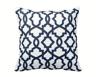 6 Sizes Available: Navy Decorative Throw Pillow Cover Blue Pillow Accent Pillow 12x16 18x18 20x20 22x22 24x24 Inches