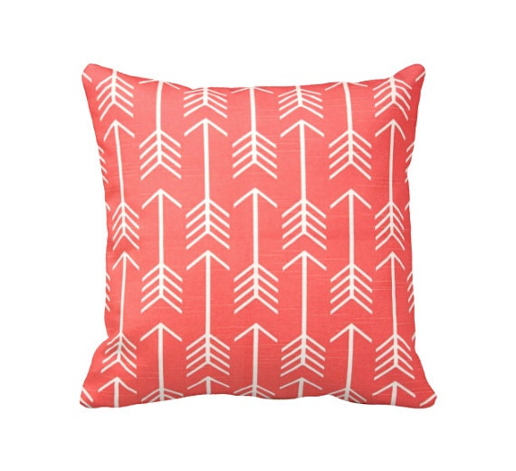 Dimensions Of Throw Pillow : 6 Sizes Available: Coral Decorative Throw Pillow Cover Coral