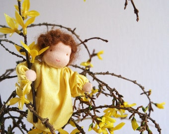 Forsythia - Waldorf inspired Flower Child of early Spring