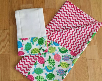Baby blanket and matching burp cloth