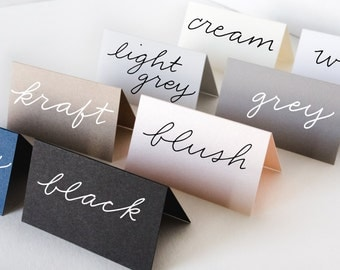 Blank Tented Place Cards | Handwritten Place Cards | Wedding Place Cards | Tented Cards | Escort Cards | Calligraphy | Cards - Set of 50