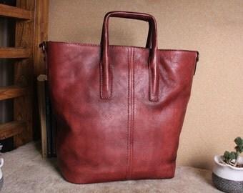 Leather handbag,Vintage womens bags,handmade women's tote, crossbody,Women shoulder bag,Leather tote