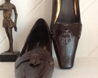 Pumps,Liz Claiborne,Size 7,Leather and Stud