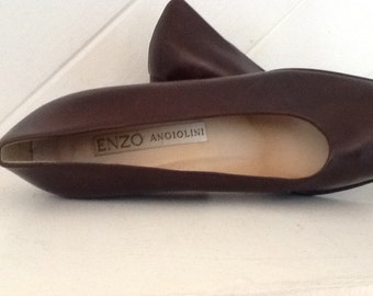 ENZO Angiolini Brown Pumps, Size 7 1/2 M