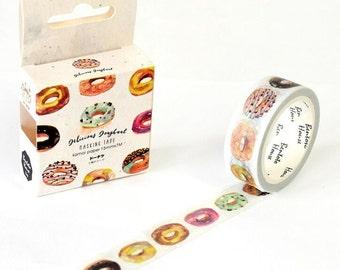 Delicious Donut Washi Tape doughnut dessert masking decorative sprinkles icing
