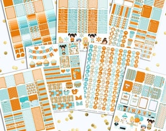 50% OFF DIY January Printable Planner Stickers Monthly Kit 695 Stickers pdf and 6 jpeg