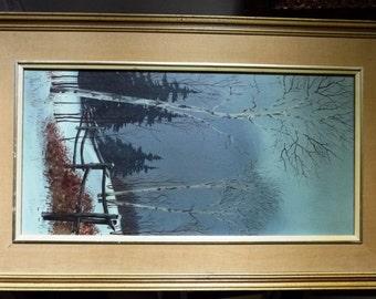 "Original Winter Snow Forest Landscape by Hilkka Pellikka ""The Evening Storm"""