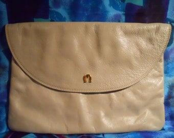 Vintage Etienne Aigner leather envelope clutch