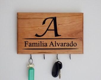 Spanish Decor - Family Name Key Rack - Key Hanger - Key Hook - Key Holder