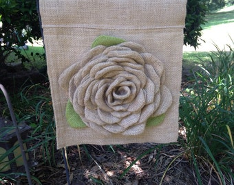Burlap flower Garden flag