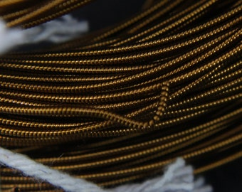 10Mtr, 1MM Jaseron French Stiff wire in Antique Gold Color-EMB1440