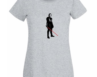 Womens T-Shirt Star Wars / Anakin Skywalker with Lightsaber  Shirts / Young Jedi knight Ready for Battle shirt + Free Random Decal Gift!