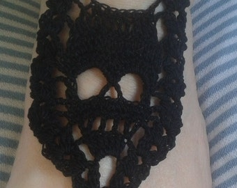 Barefoot Sandals Foot Jewelry Hippie  Skull Bridal Crochet