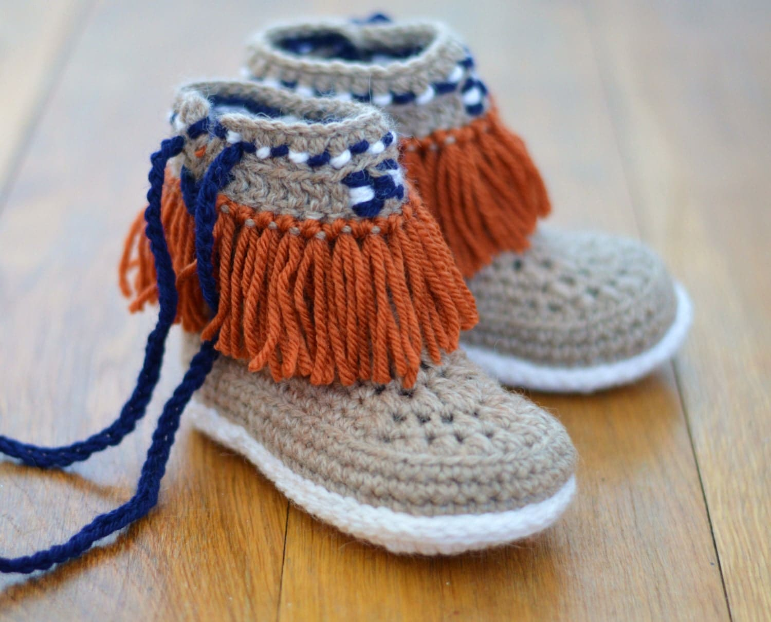 Crochet pattern slippers for children moccasin fringe boots zoom bankloansurffo Choice Image