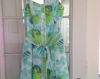 Lilly Pulitzer Dress with Seashell Design