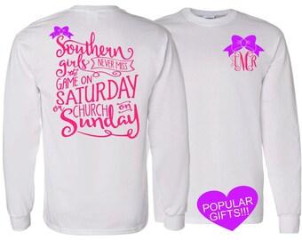1 Long Sleeve Adult Personalized Tshirt, Monogrammed tshirt,personalized shirt,Christmas gift,Monogram gifts,custom tshirt,personalized gift