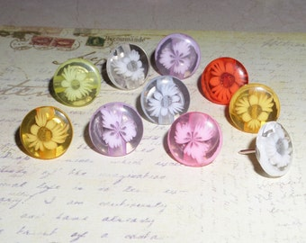 Button altered thumb tacks, push pins, party favors, home decor