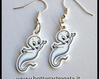 Earrings Casper Ghost Ghost Cartoons