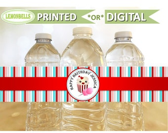 Carnival Water Bottle Labels, Carnival Party Decoration, Carnival Party Favors, Circus Water Bottle, Circus Party Favors, LemonBells CW01
