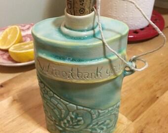 Large Ceramic Flask