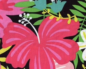 Tiki Garden Tiki Dream Alexander Henry Cotton Fabric DE8362A Natural,  By the Yard