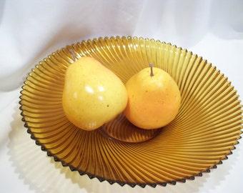 Amber Swirl Glass Bowl,French Glass Bowl,French 7