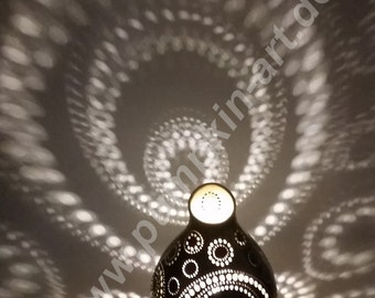 Lamp circles pumpkin lamp unique gourd