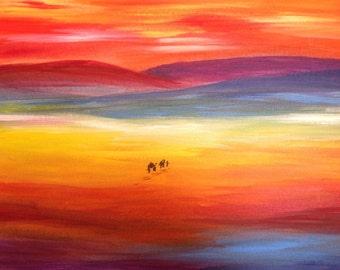 "Acrylic painting "" caravan"""